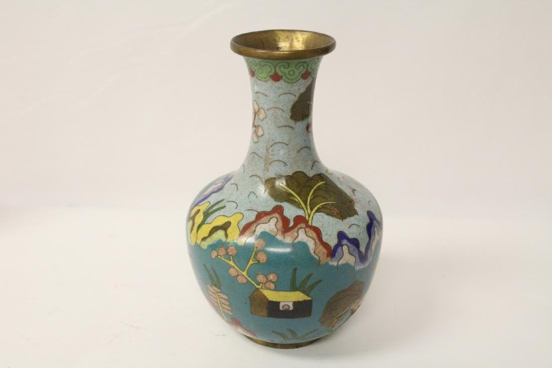 3 Chinese 19th/20th century cloisonne vases - 8