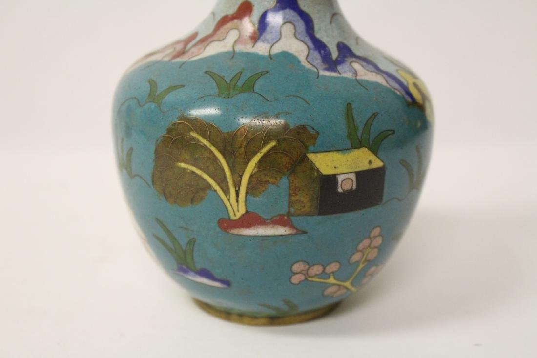 3 Chinese 19th/20th century cloisonne vases - 9