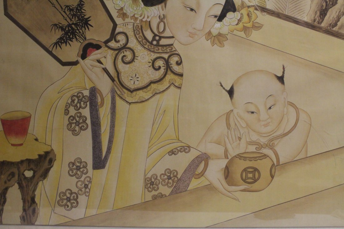 A framed Chinese watercolor - 3