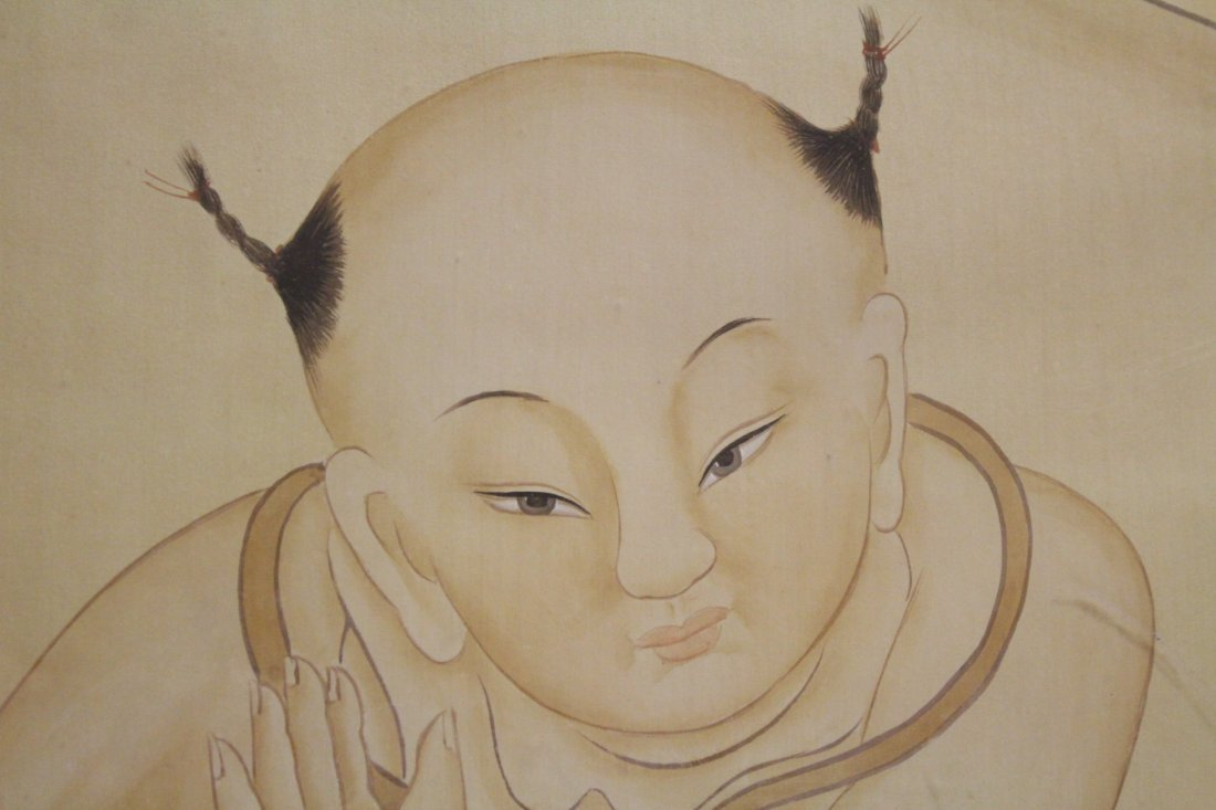 A framed Chinese watercolor - 7