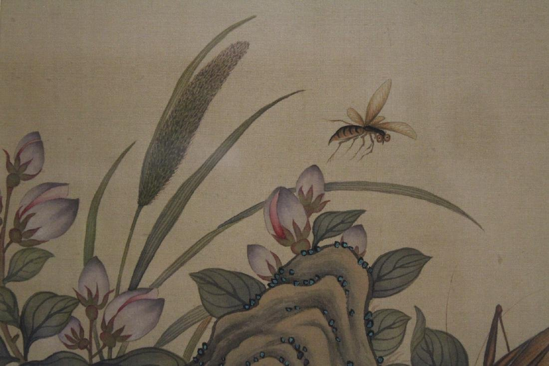 "A framed Chinese watercolor ""flowers"" - 7"