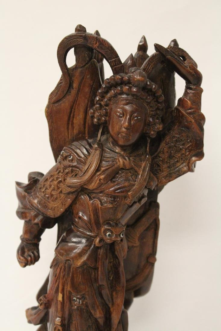 Chinese wood carved figure - 3