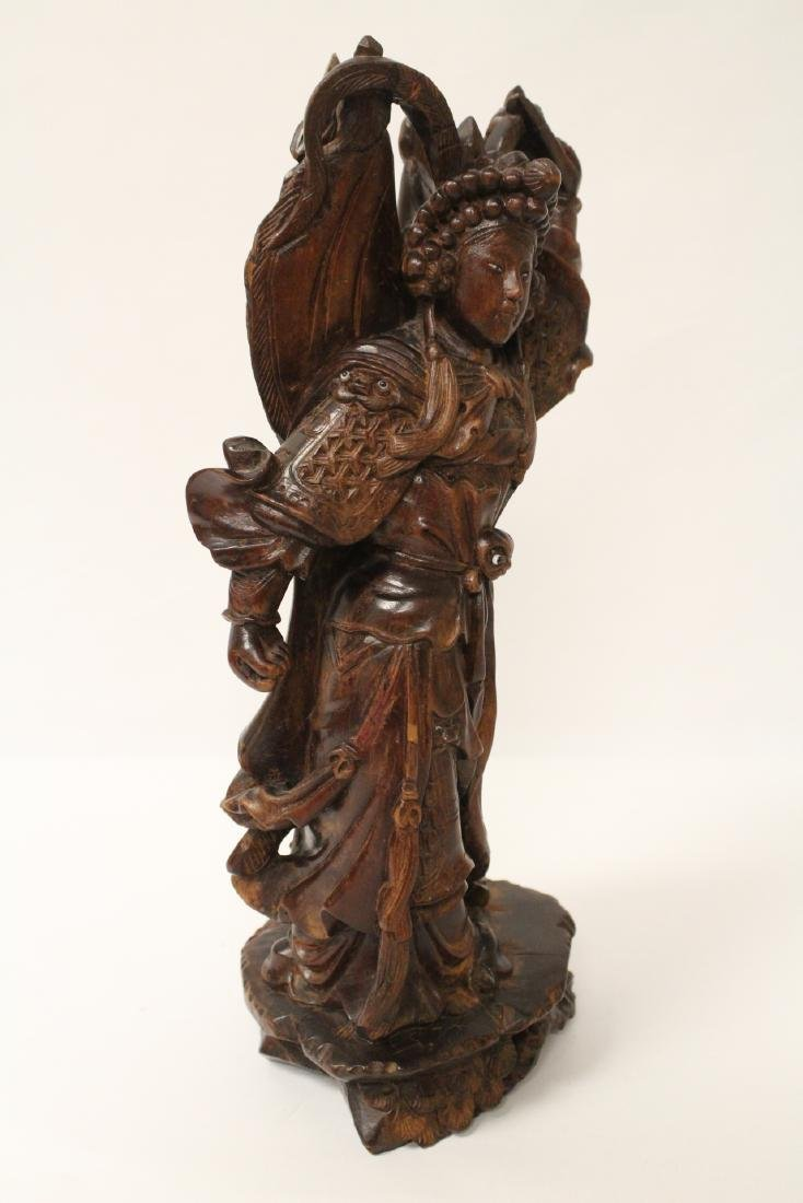 Chinese wood carved figure - 6