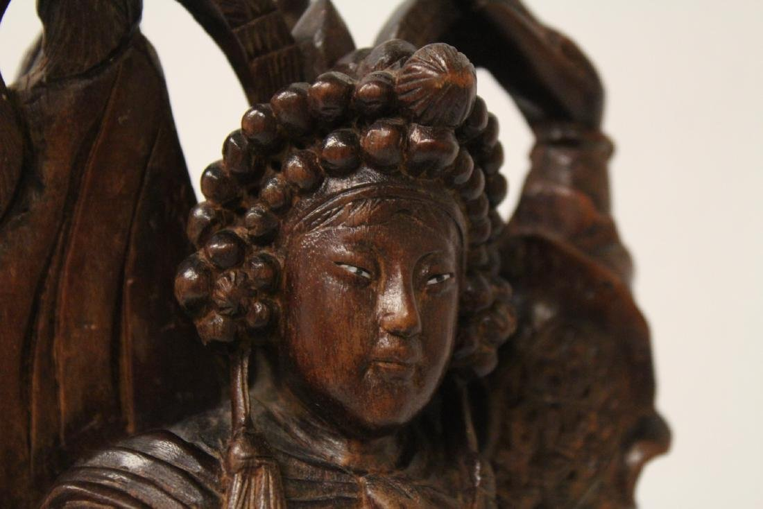 Chinese wood carved figure - 8