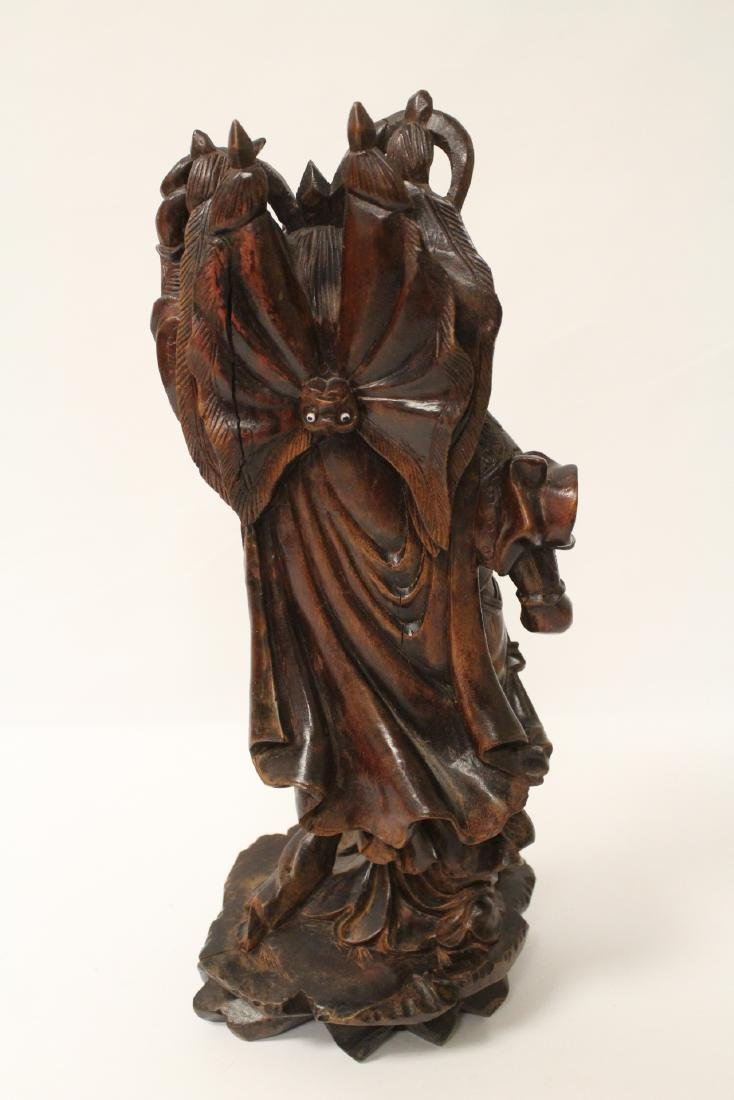 Chinese wood carved figure - 9