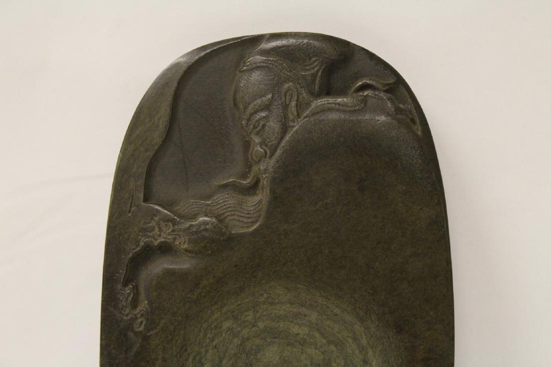 Chinese stone inkwell - 5