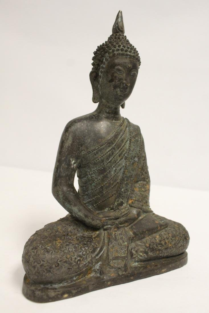 Bronze sculpture of seated Buddha - 10