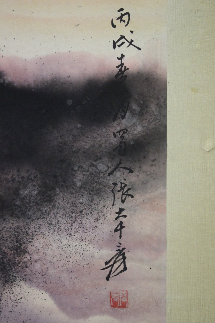 """Chinese watercolor scroll """"landscape"""" - 10"""