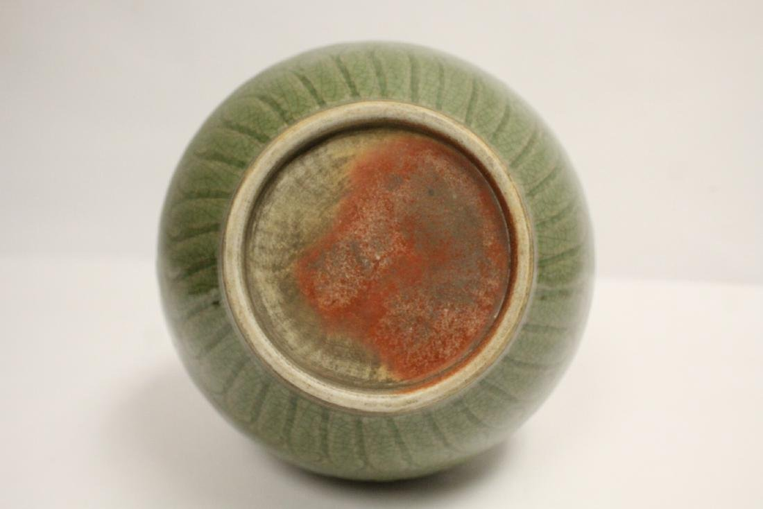 Chinese Song style celadon vase - 8