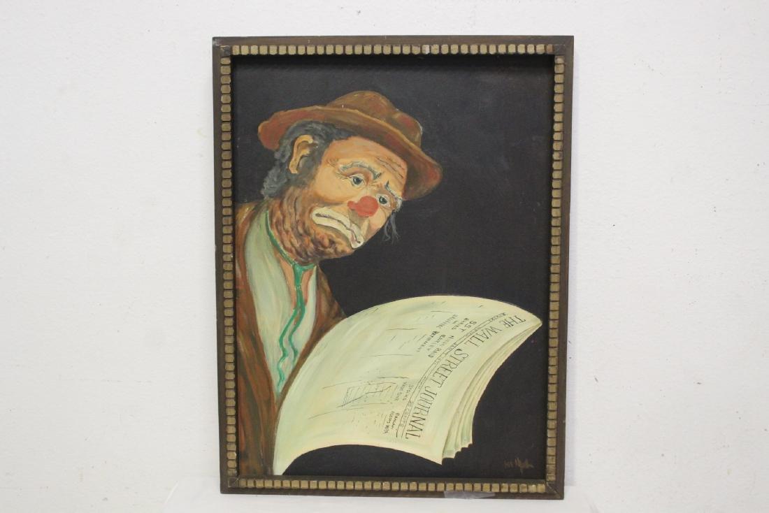 """Oil on canvas """"clown"""""""