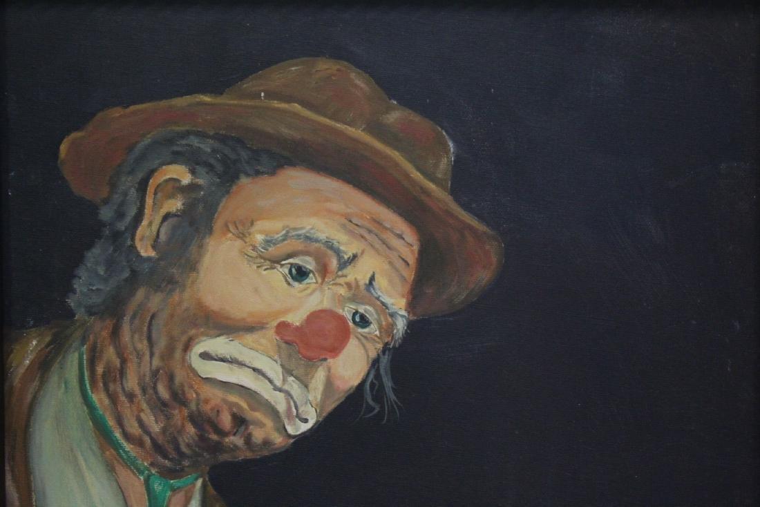 """Oil on canvas """"clown"""" - 3"""