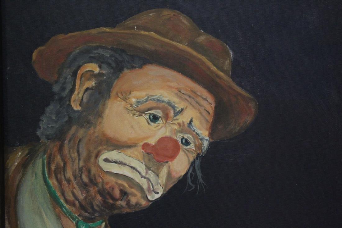 """Oil on canvas """"clown"""" - 4"""