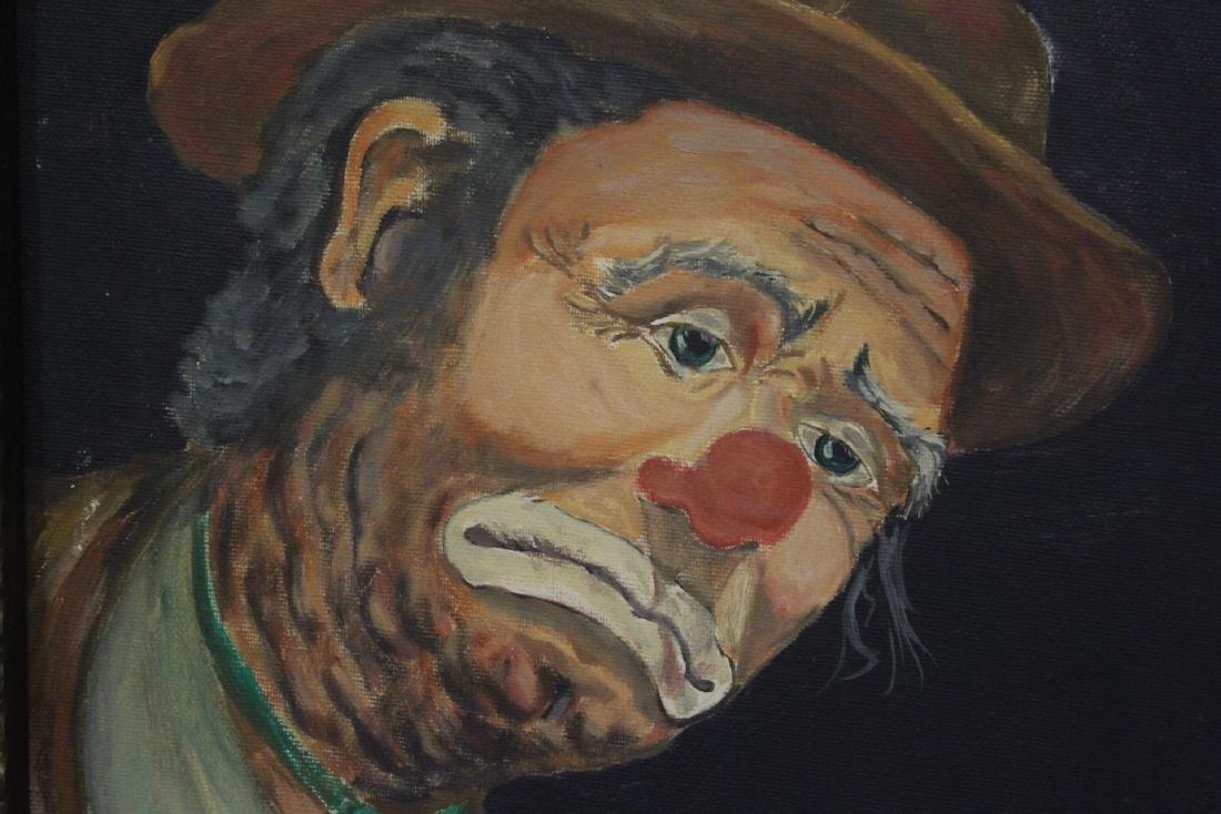 """Oil on canvas """"clown"""" - 5"""