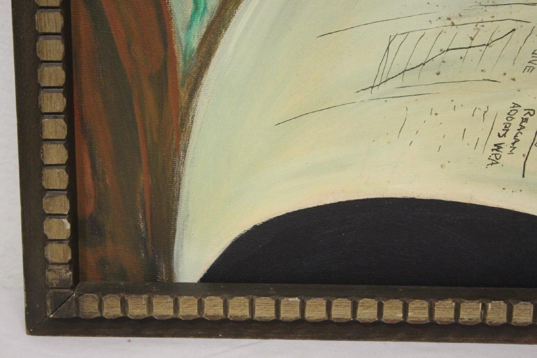 """Oil on canvas """"clown"""" - 8"""
