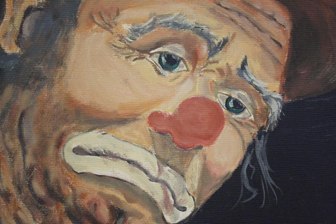 """Oil on canvas """"clown"""" - 9"""