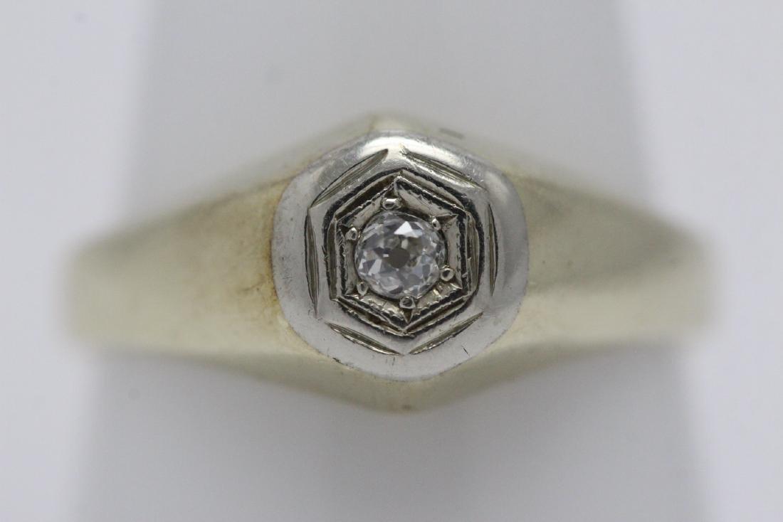 14K Y/G diamond ring - 2