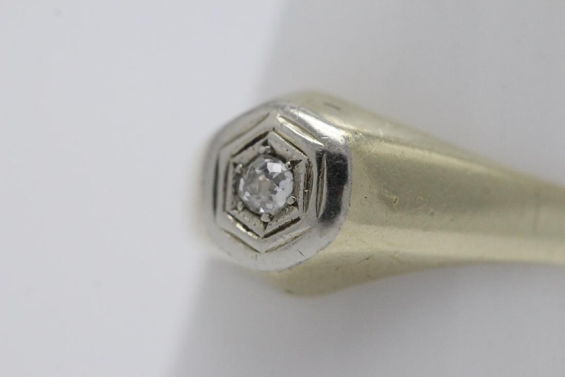 14K Y/G diamond ring - 3