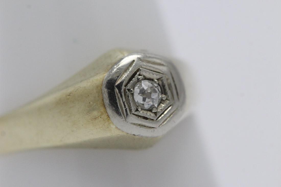 14K Y/G diamond ring - 4