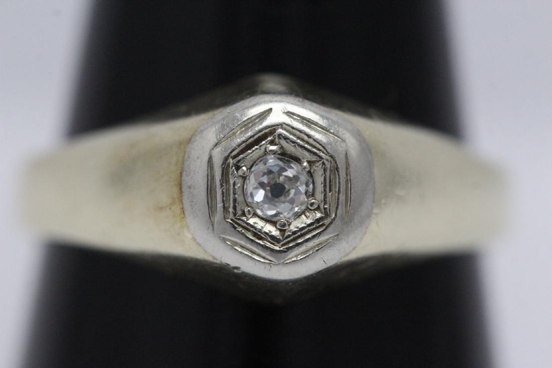 14K Y/G diamond ring - 7