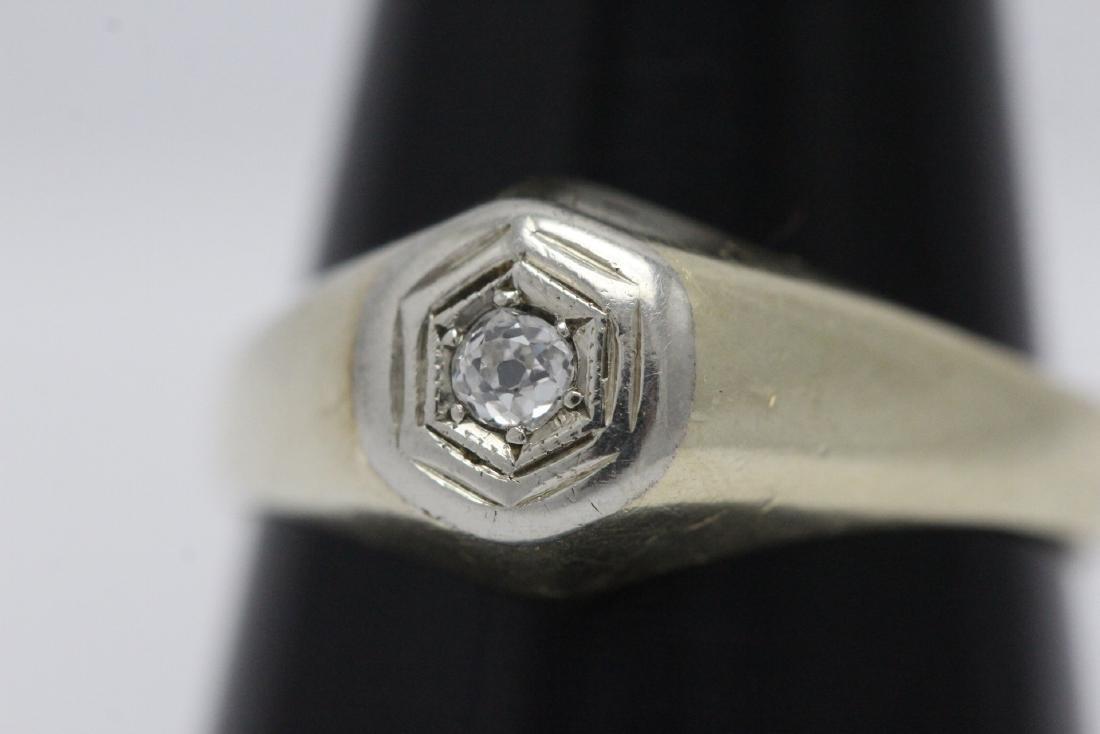 14K Y/G diamond ring - 8