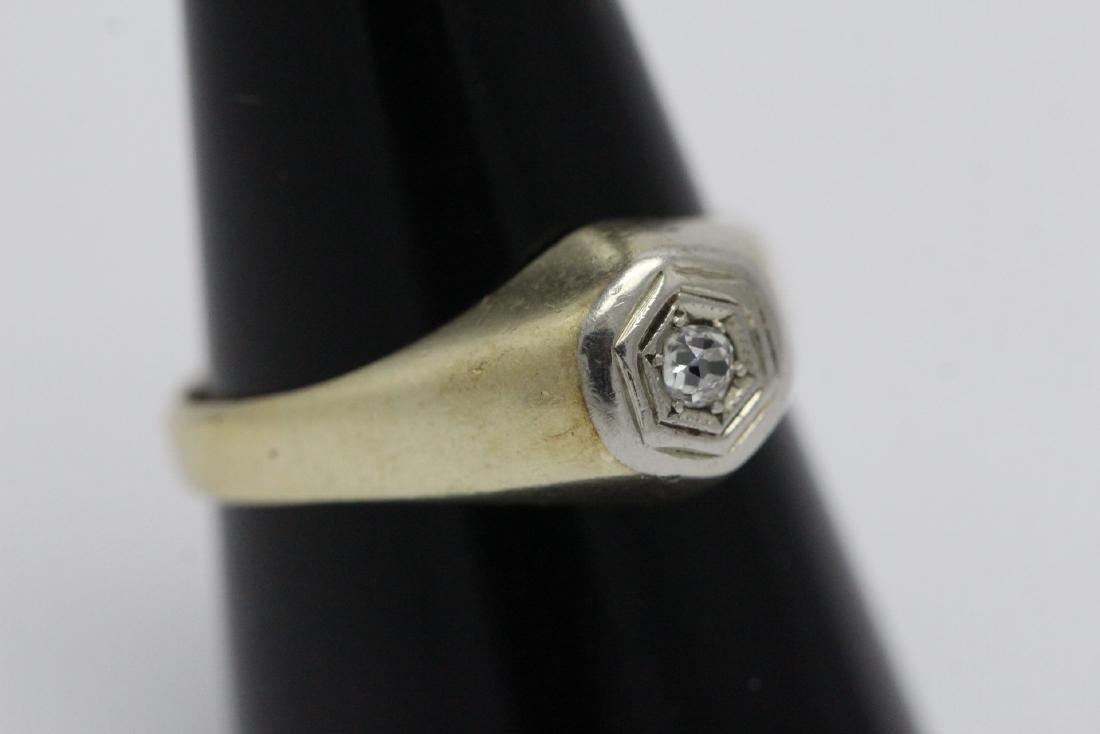 14K Y/G diamond ring - 9