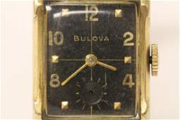 Man's vintage Bulova watch with gold filled case