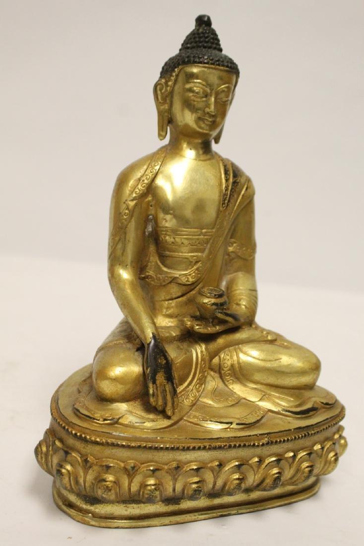 A fine Chinese gilt bronze seated Buddha - 10