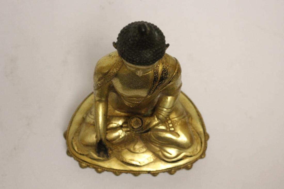 A fine Chinese gilt bronze seated Buddha - 5