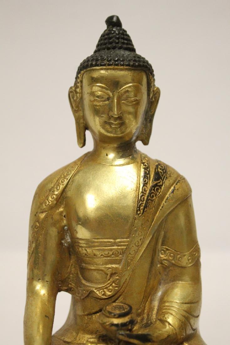 A fine Chinese gilt bronze seated Buddha - 6