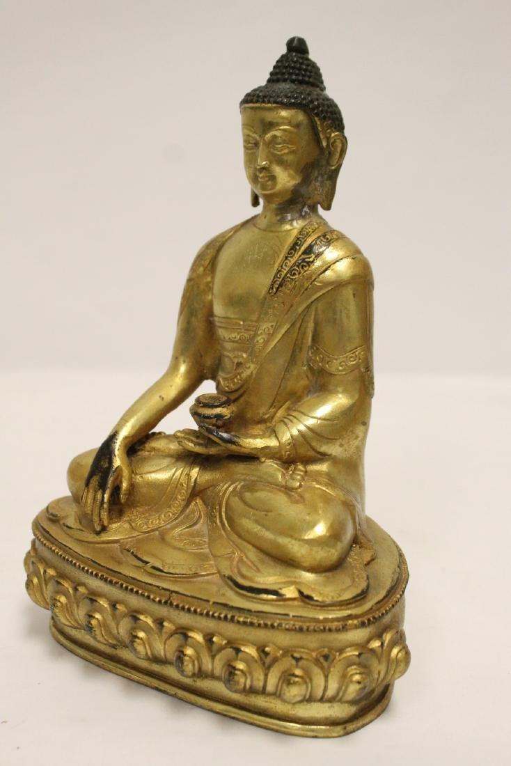 A fine Chinese gilt bronze seated Buddha - 9