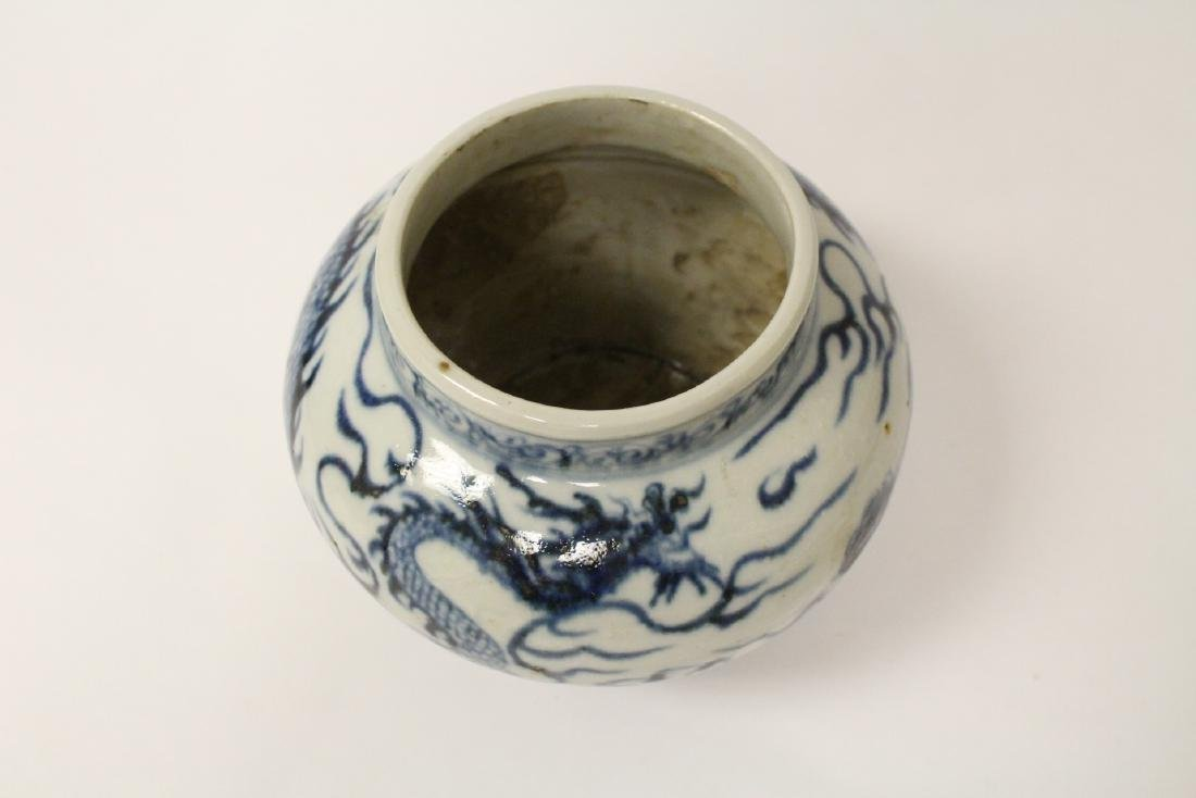 Chinese blue and white porcelain jar with dragon - 7