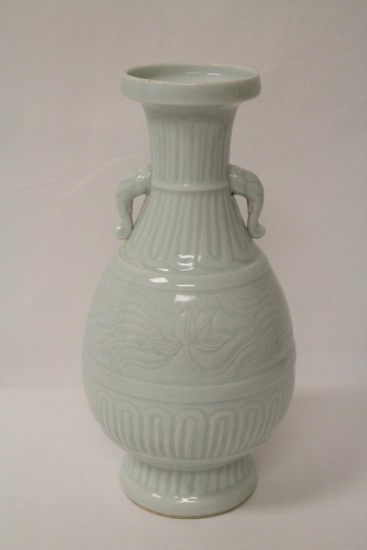 Chinese celadon porcelain vase - 6