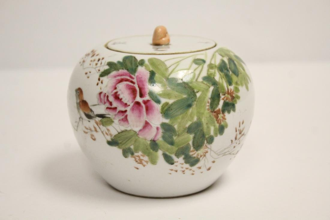 Chinese vintage famille rose covered jar