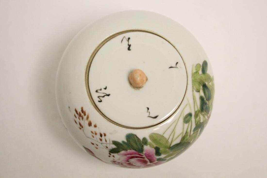 Chinese vintage famille rose covered jar - 6