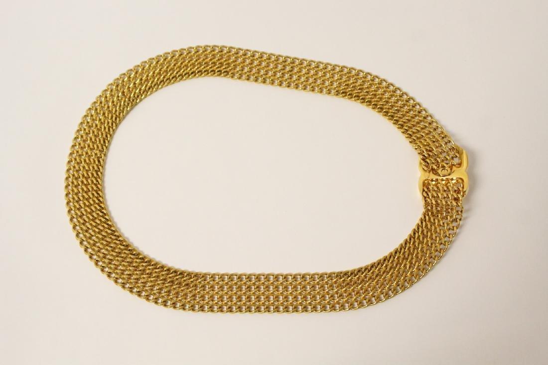 A gilt metal genuine Chanel belt - 8