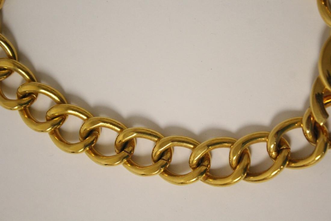 A gilt metal Chanel choker - 4