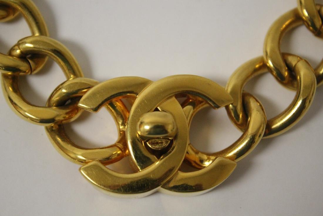 A gilt metal Chanel choker - 6
