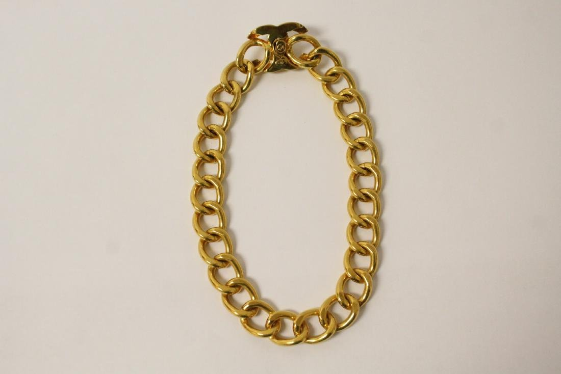 A gilt metal Chanel choker - 7
