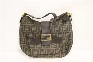 e8e4c2ef00f8 Fendi Green Sequin Mini Croissant Evening Hobo Bag