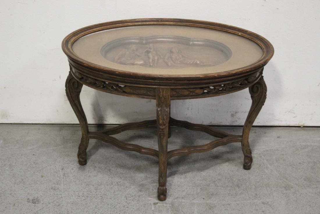 Victorian oval parlor table