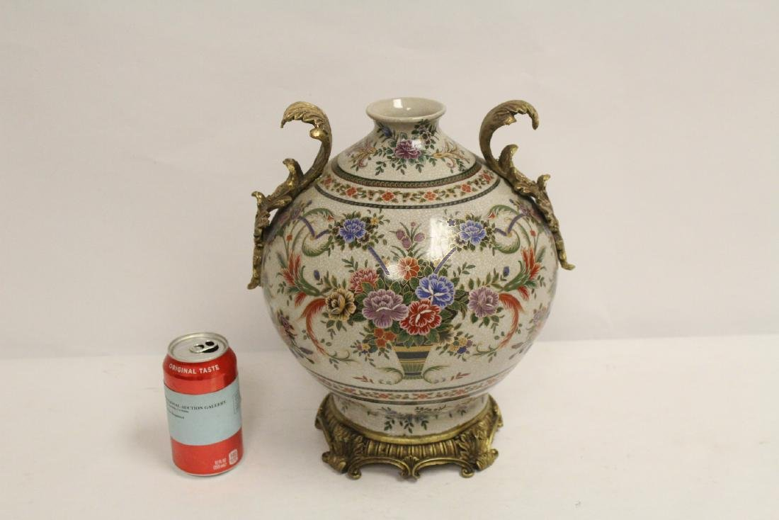 Porcelain jar with bronze ormolu