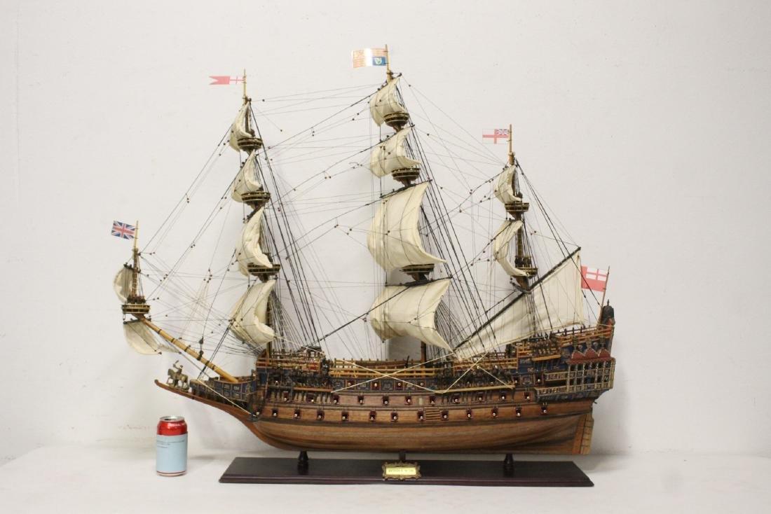 An elaborate large custom made ship model