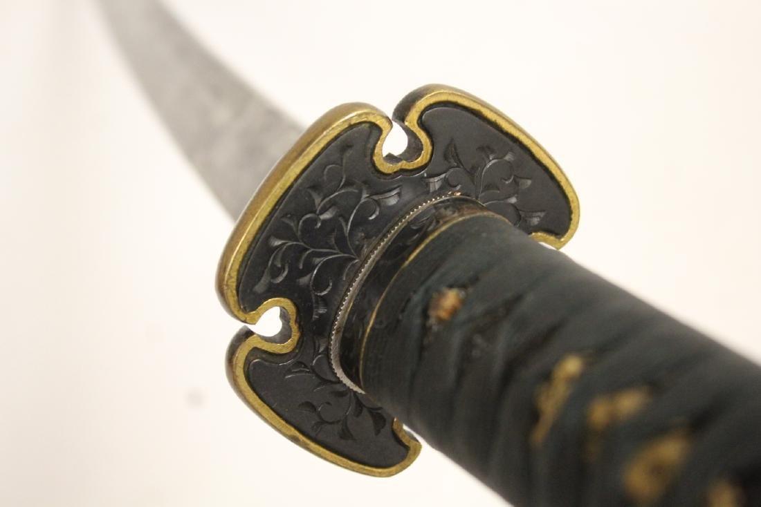 Antique Japanese samurai sword w/ WWII military mount - 10