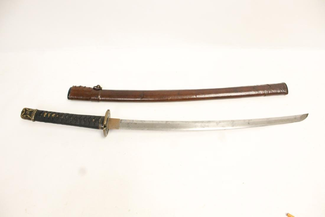 Antique Japanese samurai sword w/ WWII military mount