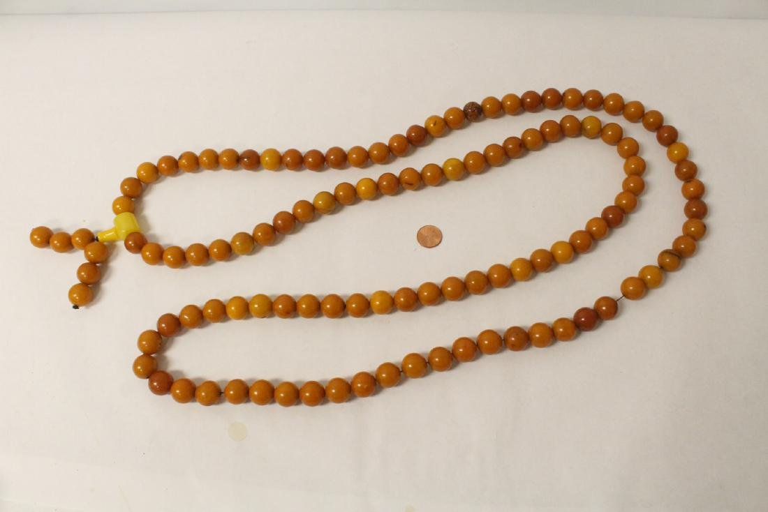 Chinese amber like bead necklace