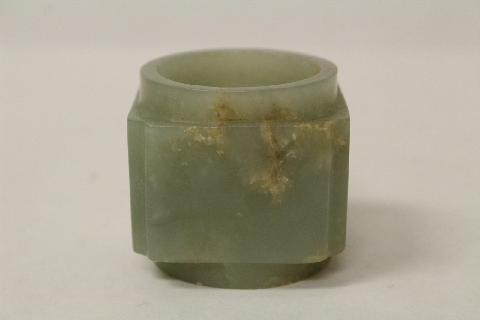 A fine Chinese antique jade carved zong