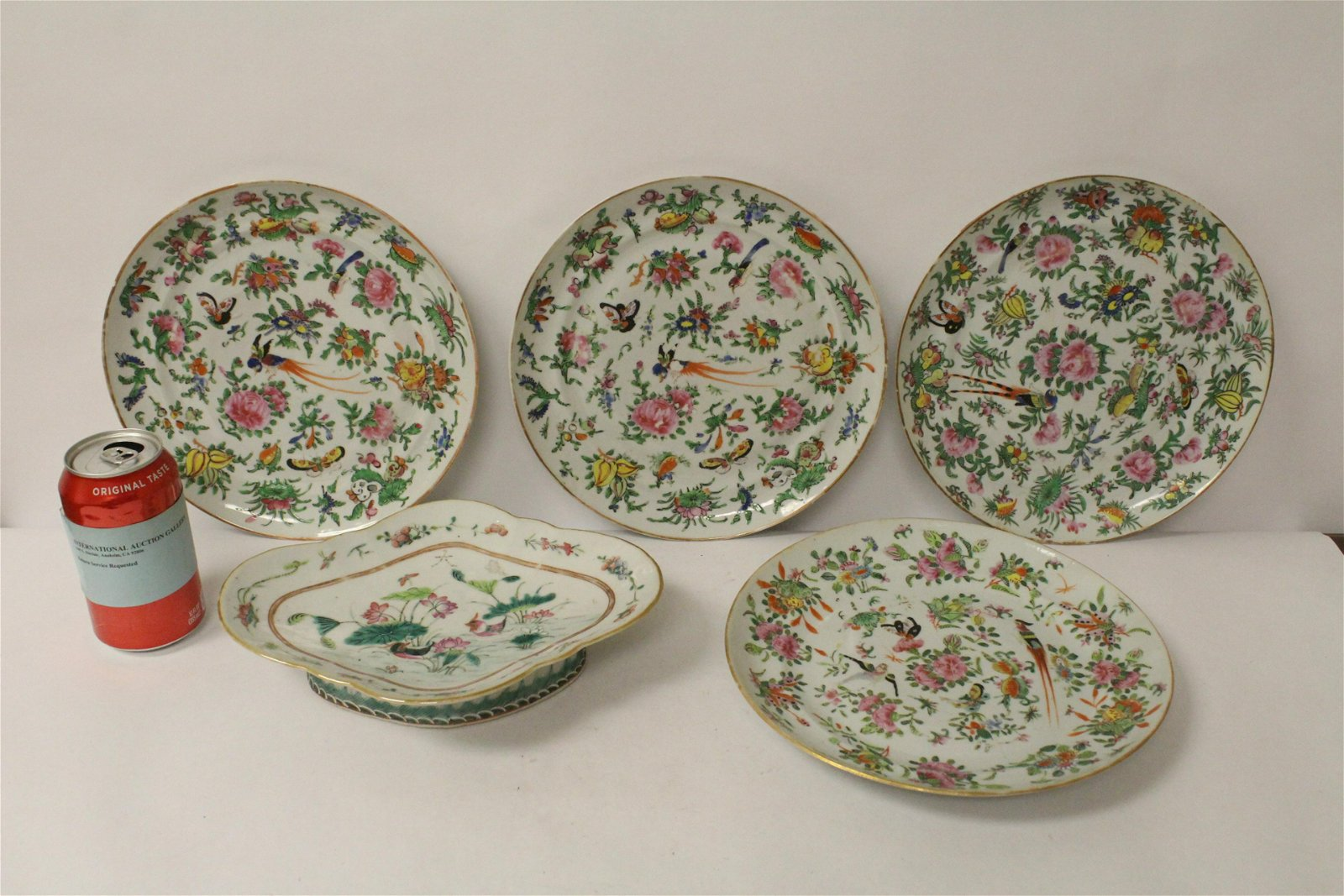 5 Chinese antique famille rose porcelain pieces
