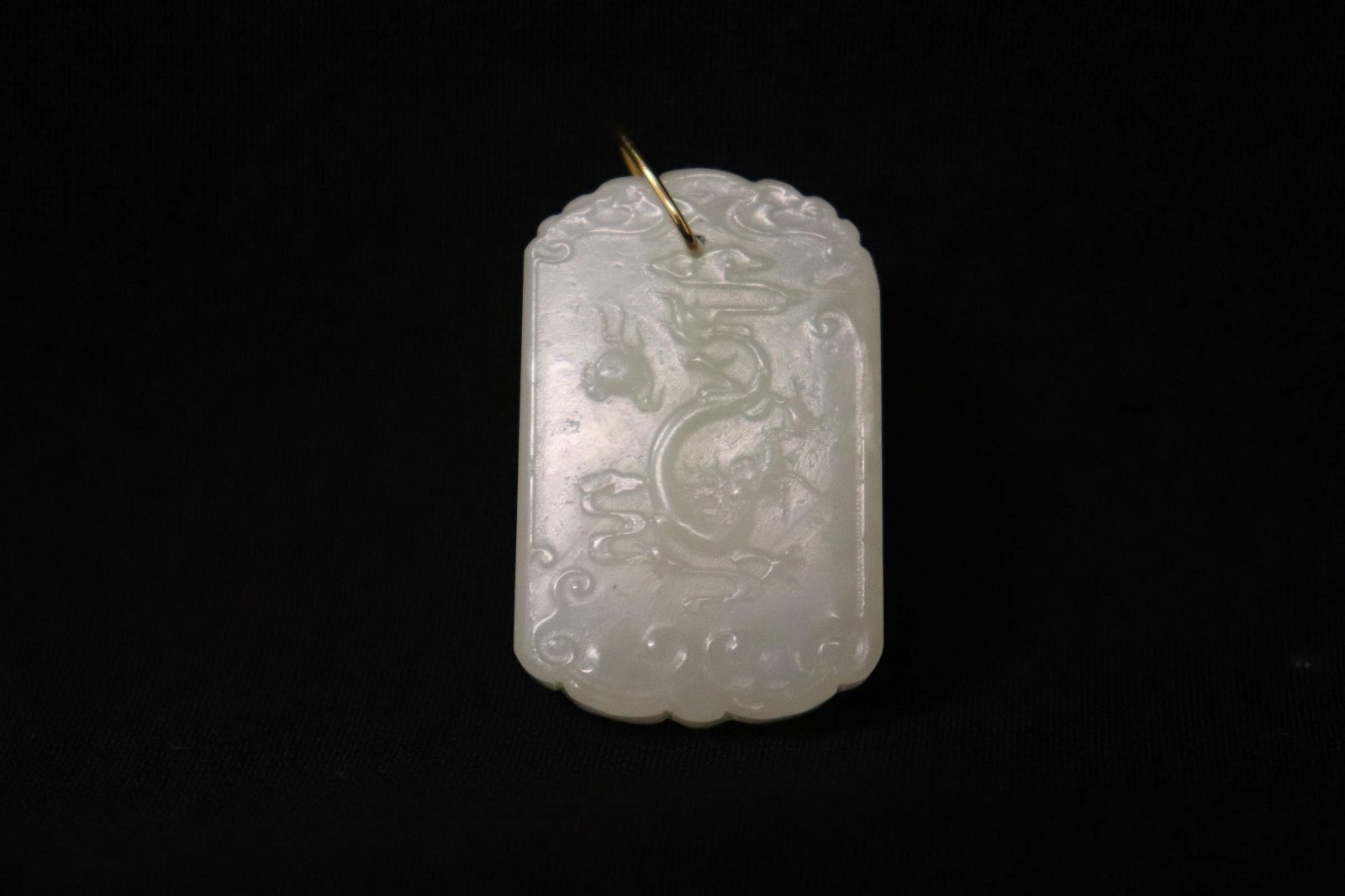 A beautiful Chinese white jade carved plaque