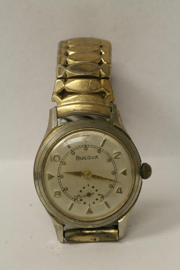 A man's vintage Bulova wrist watch