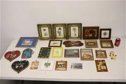 Lot of framed prints and misc